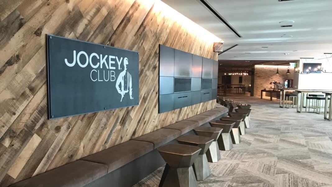 The Jockey Club premium event space at Fiserv Forum. Photo courtesy of the Milwaukee Bucks