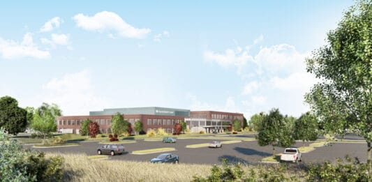 A rendering of the new Advocate Aurora facility in Pleasant Prairie.