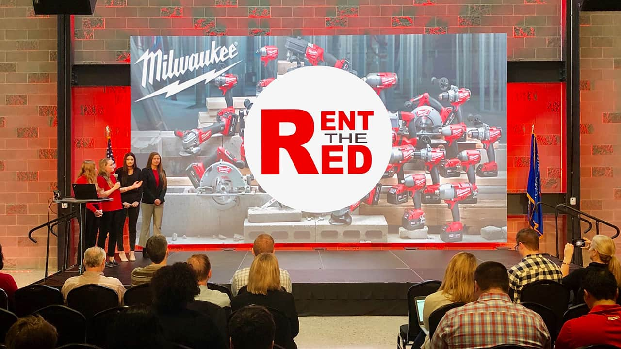 Students pitched their business solution to Milwaukee Tool employees as part of the LAUNCH program.