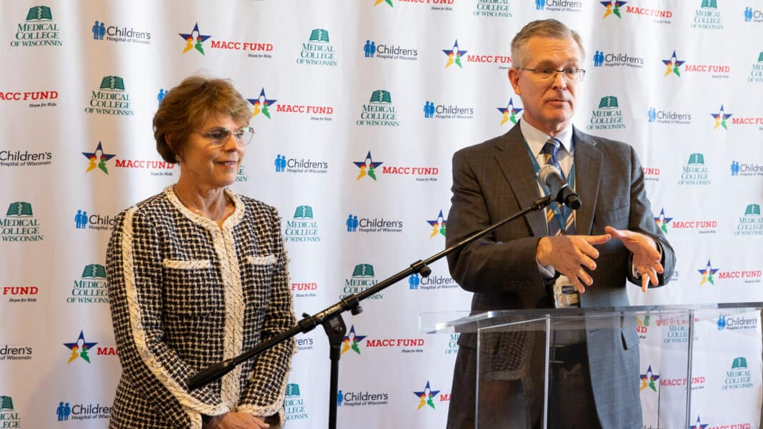 Peggy Troy, president and chief executive officer of Children's Hospital of Wisconsin, and Dr. John Raymond, president and CEO of the Medical College of Wisconsin.
