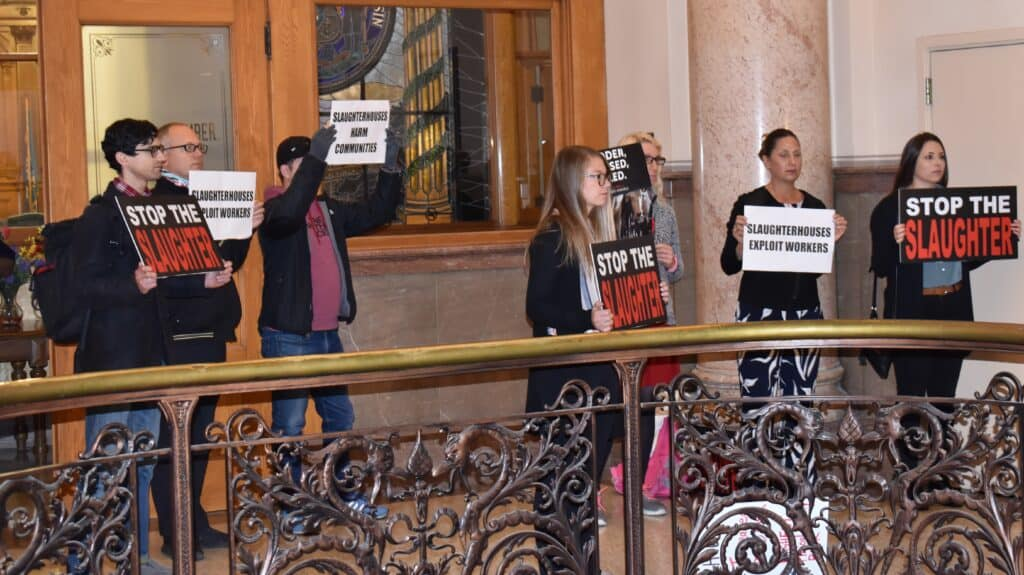 Protesters let aldermen know Tuesday that they oppose plans for the Strauss Brands facility in Milwaukee.