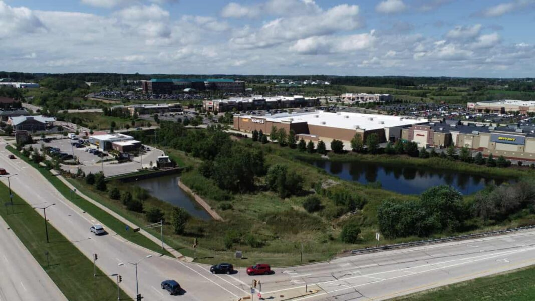 Arial view of Grafton Commons. Photo credit: Business Wire
