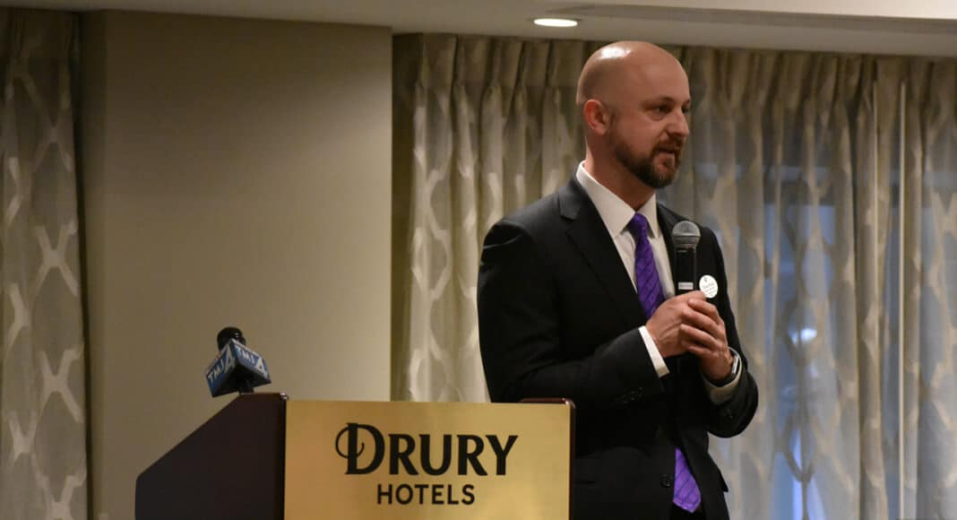Chris Palid, general manager of the Drury Plaza Hotel in downtown Milwaukee.