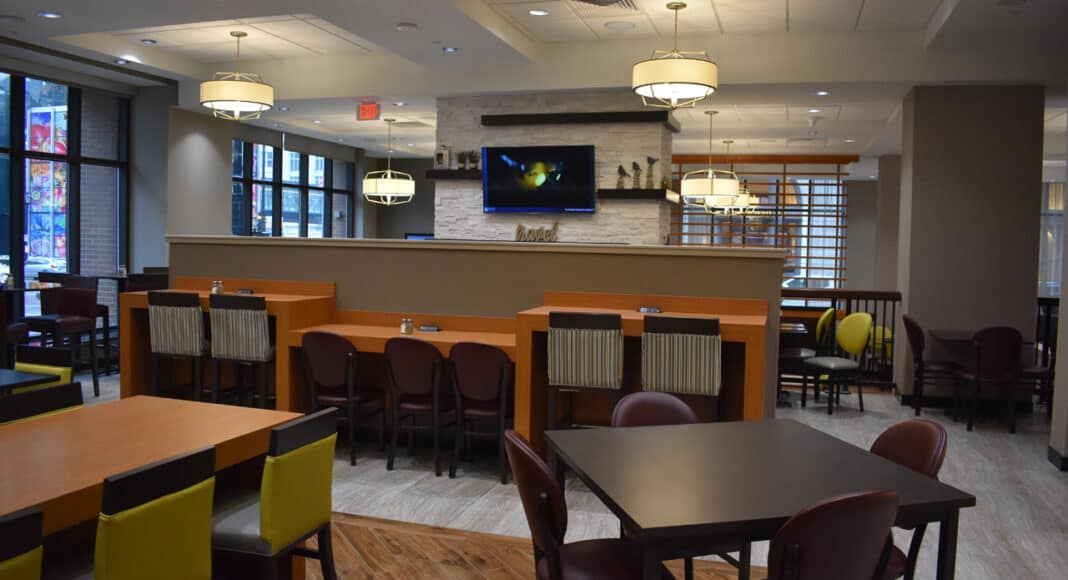 A section of the Drury's dining area.