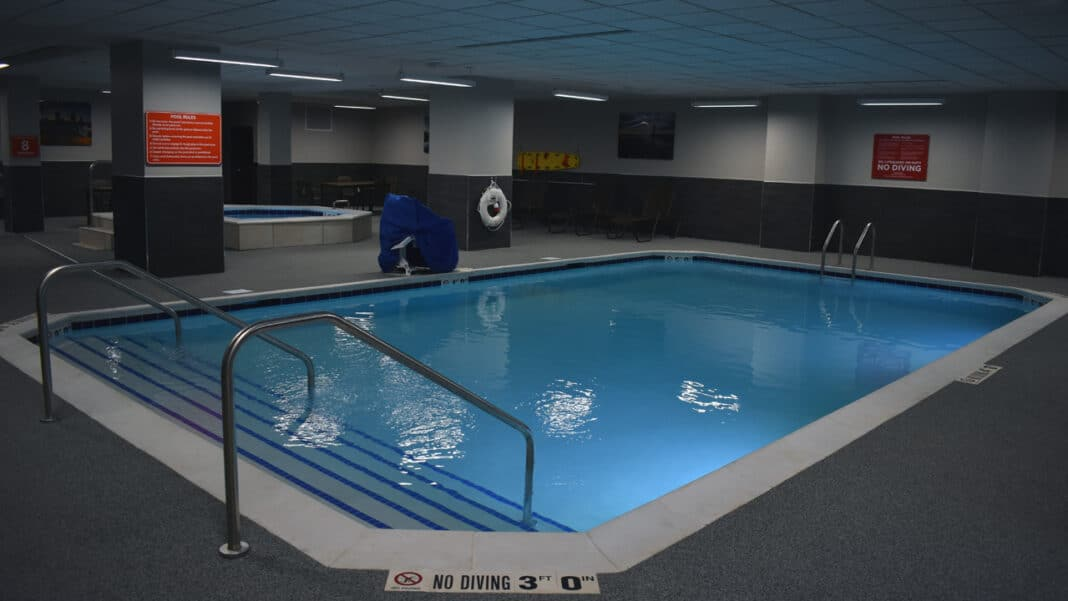 The basement of the new Drury hotel includes a pool and whirlpool.