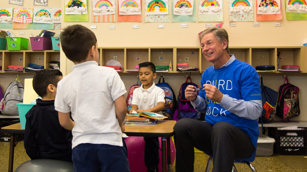 Steve Booth, president and CEO of Baird, participates in a Baird Gives Back Week event.