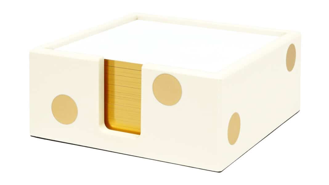 Kate Spade strike gold dot note holder