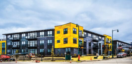 The West, a 177-unit apartment building developed by Mandel Group Inc., is set to open this fall.