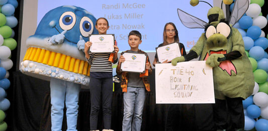 Racine County student teams recognized for their achievement at the Battle of the Books celebratory event, hosted by SC Johnson.