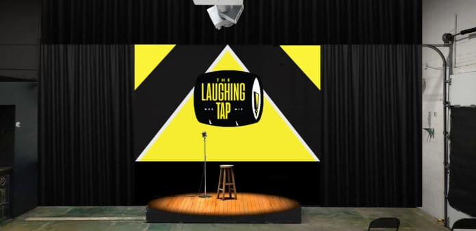 Rendering of the stage at The Laughing Tap,