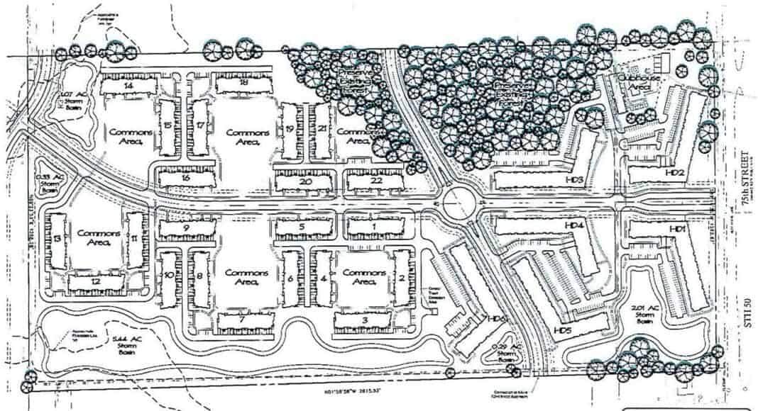 Strawberry Fields Kenosha project site plan. Credit: Manhard Consulting.