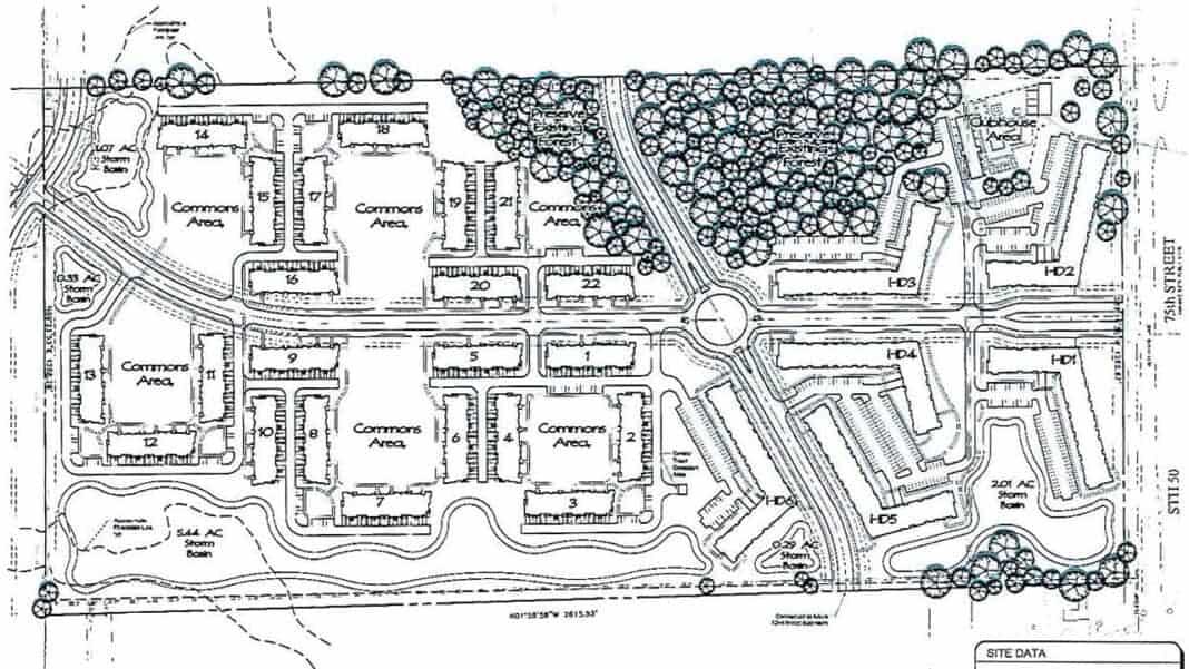 Strawberry Fields Kenosha project site plan. Credit: Manhard Consulting.
