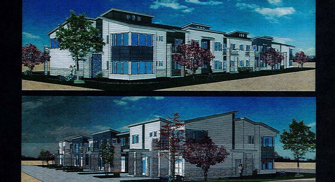 The proposed 16-unit buildings. Credit: Partners in Design