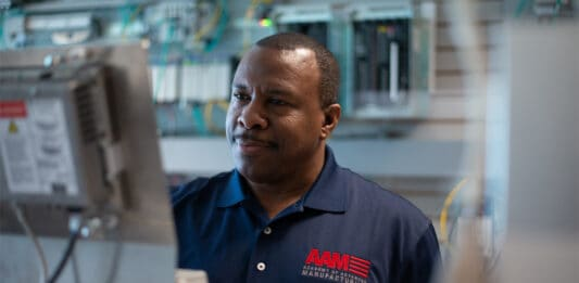 A graduate of the Academy of Advanced Manufacturing now works as a controls technician at a Water Management company after completing the 12- week training program.