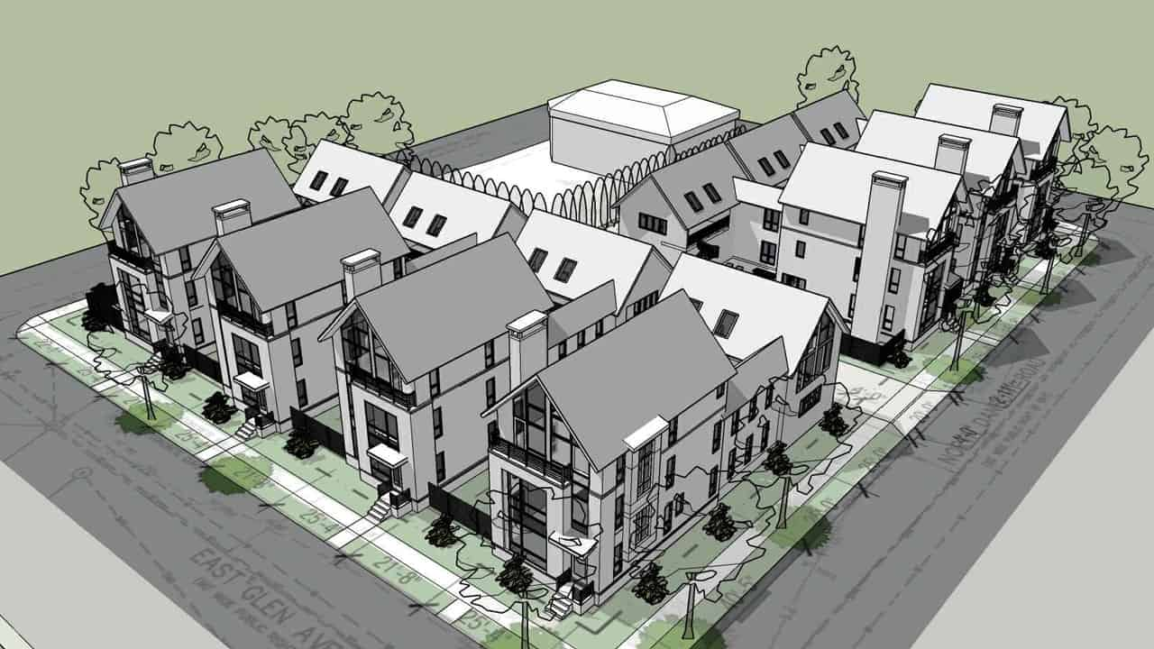 Proposed townhomes in Whitefish Bay. Credit: the Consortium ae LLC