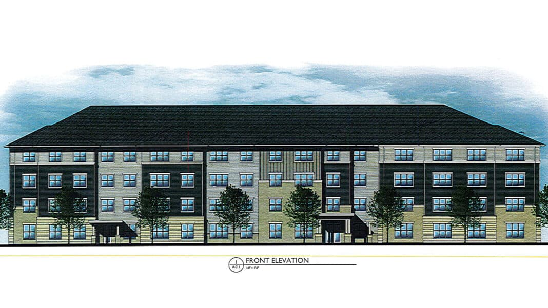 Proposed multi-family project behind the former UAW union hall in Kenosha.