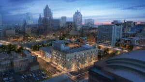 Rendering of the Journal Square project